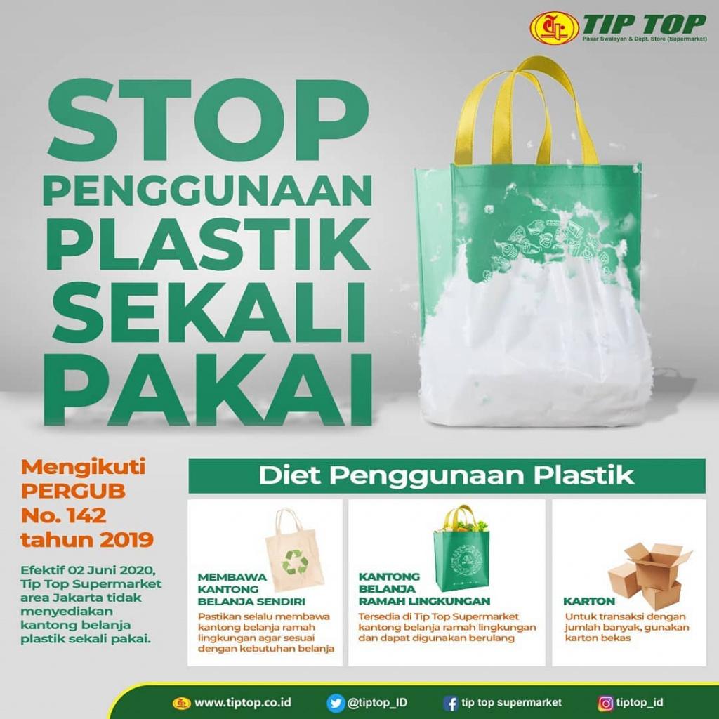 Stop Penggunaaan Kantong Belanja Plastik Sekali Pakai