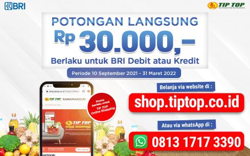 Promo BRI Online Shopping