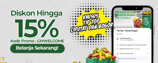 Grabmart Hadir di Tip Top Supermarket Ciputat & Bogor