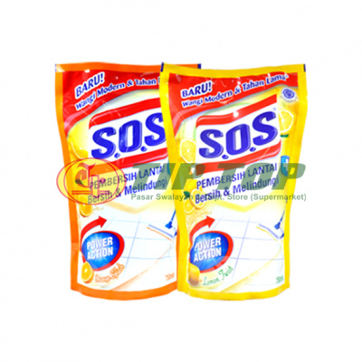 SOS Floor Cleaner Orange Splash / Lemon Twist Refill 750ml