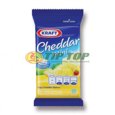 Kraft Keju Cheddar Mini 30gr