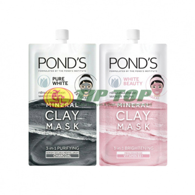 Pond's Mineral Clay Mask White Beauty / Pure WHite Mineral Clay 8gr