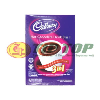 Cadbury Hot Chocolate Drink 3in1 3x30gr