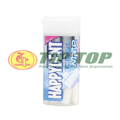Happydent Cool White Assorted Botol 28gr