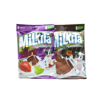 Milkita Permen Assorted Milk / Chocolate bag 30's