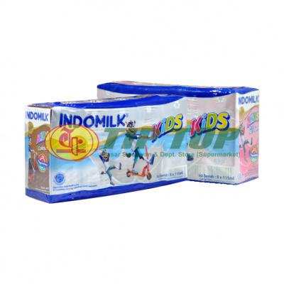 Indomilk UHT Kids Cokelat / Strawberry Multipack 5x115ml