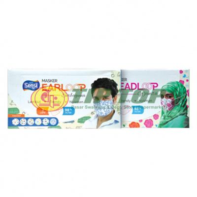 Sensi Masker Earloop Serbaguna 40's / Headloop Wanita 40's
