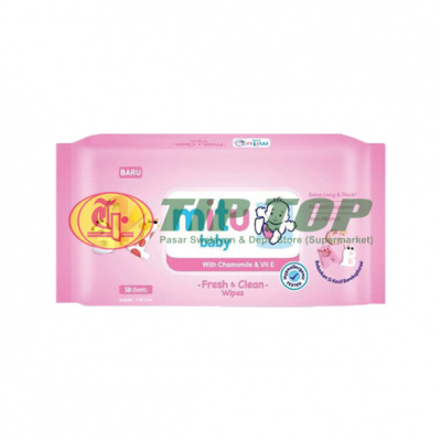 Mitu Baby Softcare Wipes Pink 50lbr