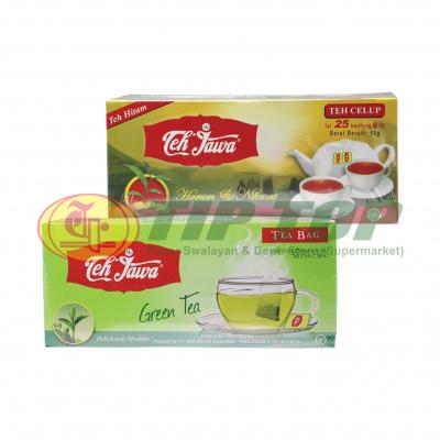 Teh Jawa Teh Celup Black Tea 25's & Green Tea 25's