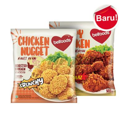 Belfoods Chicken Nugget Crunchy 500gr / Crispy Chicken Pedaaaz 500gr