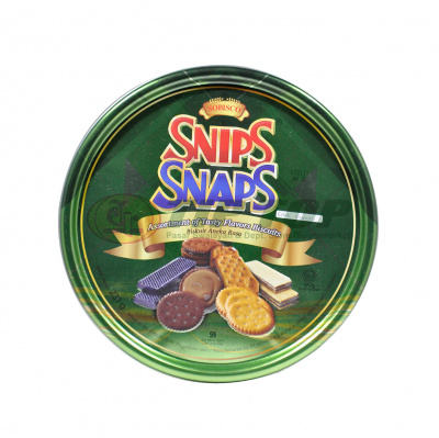 Snips Snaps Assorted Biscuit Tin 231gr