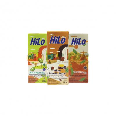 Hilo RTD Kacang Hijau, Milky Brown Sugar, Thai Tea 200ml