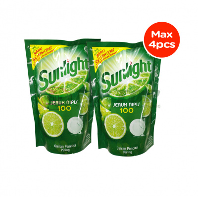 Sunlight Dish Wash Lime Refill 755ml