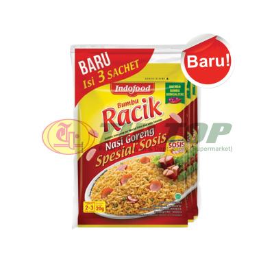 Indofood Bumbu Racik Nasi Goreng Spesial Sosis P 3x20gr