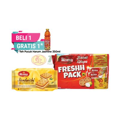 Roma Sandwich Lemon 120gr / Kelapa Fresh Pack 230gr